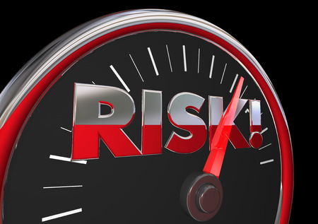 Risk Level Rising Danger Warning Speedometer 3d Illustration Stock Photo