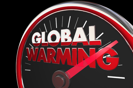 temperatures: Global Warming Temperatures Rising Climate Change Speedometer 3d Illustration