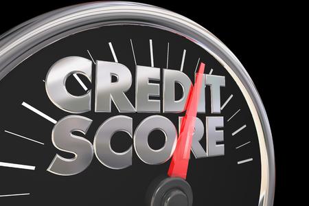 クレジット スコアのスピード メーターより良い評価を向上させる 3 d 図の番号