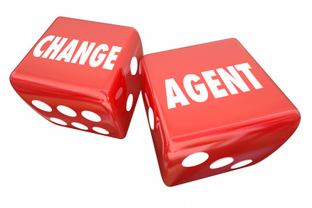 Change Agent Roll Dice Disrupt Adapt Innovate 3d Illustration