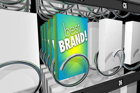 pick out: Best Brand Preference Affinity Customer Loyalty Vending Machine 3d Illustration