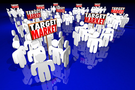 market place: Target Market People Customers Clients Prospects 3d Illustration