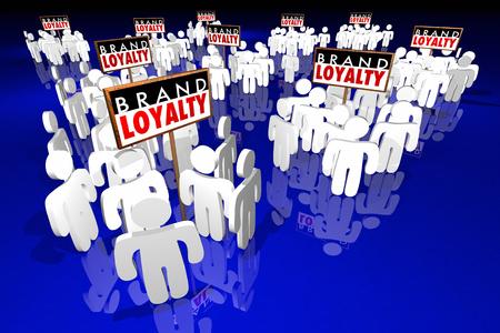 Brand Loyalty Klanten voorkeur kopen van producten 3d Illustratie