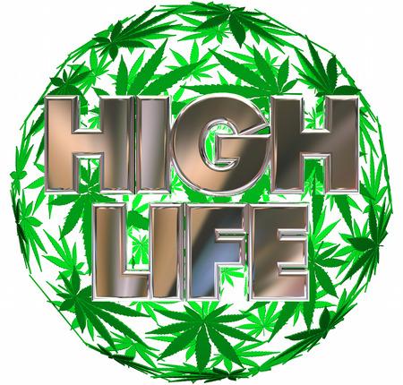 reefer: High Life Marijuana Pot Leaf Sphere 3d Illustration