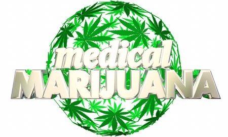 relieving pain: Medical Marijuana Legal Use Treatment 3d Illustration