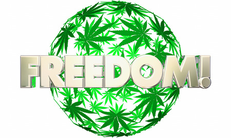 Freedom Liberty Marijuana Leaf Ball Sphere 3d Illustration