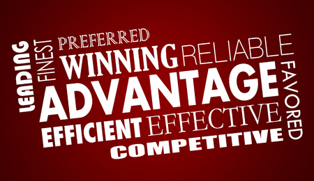 competitive: Advantage Benefits Competitive Edge Words Collage 3d Illustration