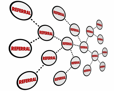 networked: Referrals New Business Customer Recommendation 3d Illustration