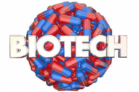 Biotech Meidcal Research Pills Medicine Cure 3d Illustration Stock Photo