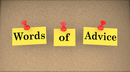 aiding: Words of Advice Help Assistance Support Bulletin Board 3d Illustration