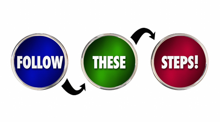 compliant: Follow These Steps Plan Process Procedure System 3d Illustration