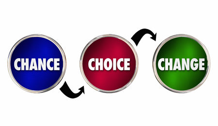 chance: Chance Choice Change Circles Arrows Future Path Options 3d Illustration Stock Photo