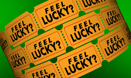 contest: Feel Lucky Tickets Contest Raffle Optimism Positive Attitude 3d Illustration
