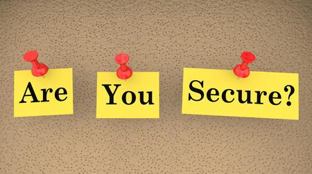 Are You Secure Safe Question Security Risk 3d Illustration Stok Fotoğraf