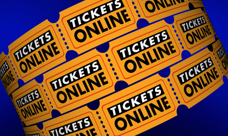 releasing: Tickets Online Buy Movie Theater Passes Internet 3d Illustration