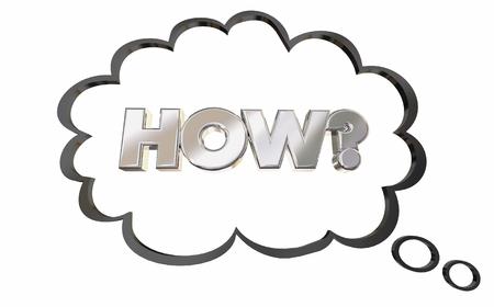 質問がバブル思考と思った 3 d イラストレーションを答える 写真素材