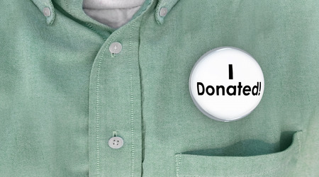 contributor: I Donated Gave Money Donation Contributor Button Pin 3d Illustration