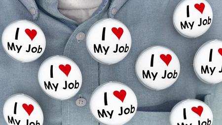 position d amour: I Love My Buttons d'emploi Pins travail carrière Pins 3d Illustration