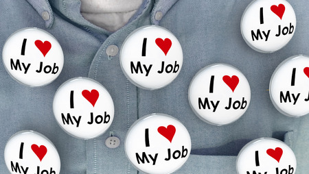 I Love My Job Buttons Pins Working Career Pins 3d Illustration