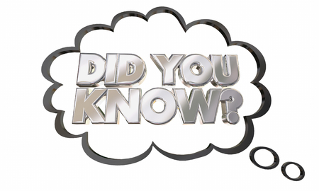 Did You Know Question News Information Trivia 3d Illustration