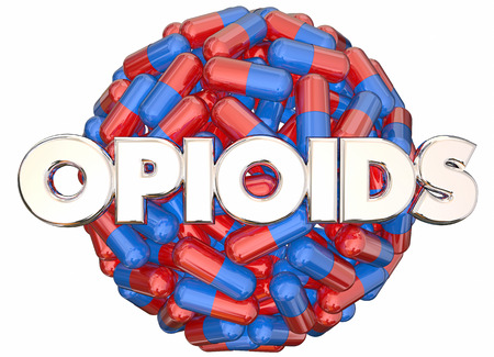 heroin: Opioids Prescription Drugs Addiction Danger Pills Capsules 3d Illustration