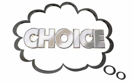 elect: Choice Thought Cloud Choose Word Pick Select 3d Illustration