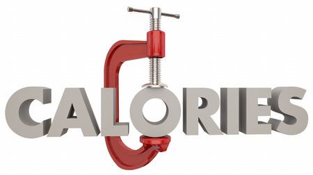 Calories Reduce Eating Lose Weight Diet Vice Clamp 3d Illustration Фото со стока