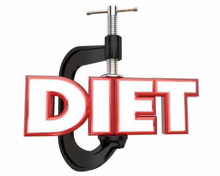 Dieta Perder Peso abrazadera vice Palabra Ilustración 3d Foto de archivo - 64929746