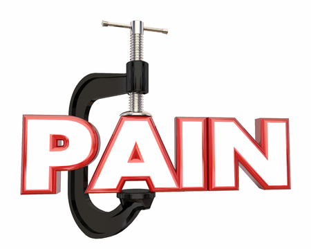 Pain Management Suppression Clamp Vice Word 3d Illustration Фото со стока