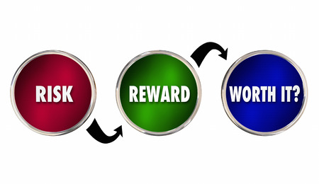 benefit: Risk Reward Worth It Analysis Evaluation 3d Illustration Stock Photo