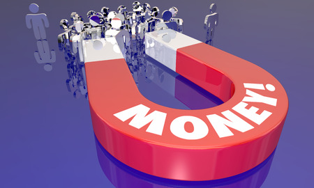 Money Magnet Attracting People Income Earnings Word 3d Illustration