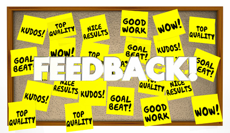 Feedback Sticky Notes Great Job Praise 3d Illustration