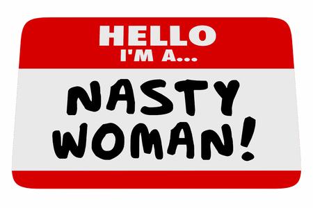 厄介な女性こんにちは午前名前タグ誇りフェミニスト 3 d イラストレーション