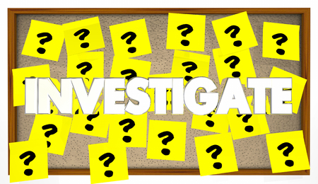Investigate Search Clues Solve Mystery 3d Illustration