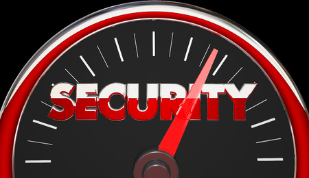 security safety: Security Safety Danger Level Rising Speedometer 3d Illustration