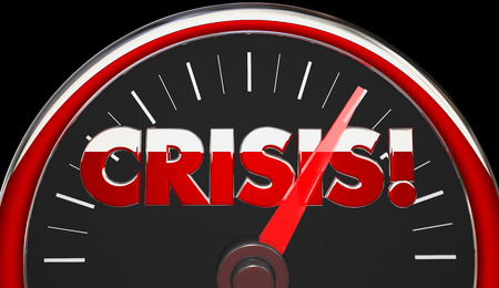 Crisis Emergency Disaster Speedometer Level 3d Illustration