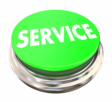 prompt: Service Good Preferred Best Company Business Green Button 3d Illustration Stock Photo