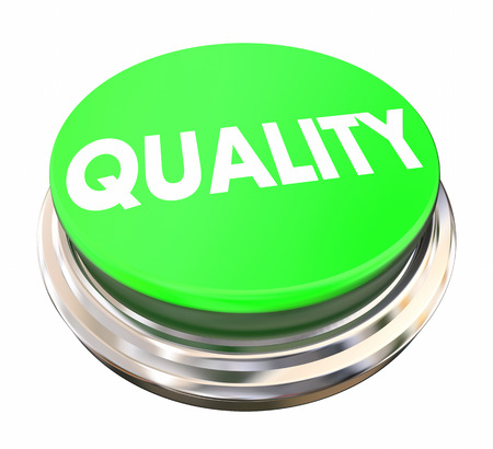 better button: Quality Top Better Best Product Service Green Button 3d Illustration