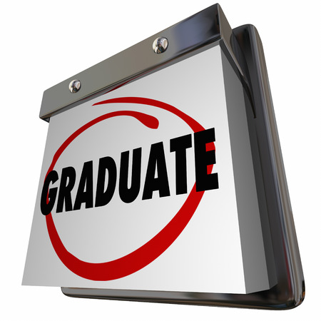 updating: Student Graduate School Education Graduation Calendar 3d Illustration
