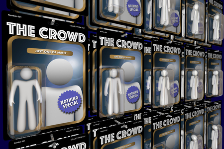 The Crowd Same Group People Action Figures 3d Illustration Stock Photo