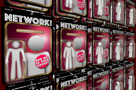 interacting: Network Social Interaction Meeting New People Action Figures 3d Illustration