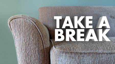 tiring: Take a Break Couch Leisure Relax Stop Working 3d Illustration