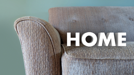 Home Word Couch Family Living Comfort 3d Illustration Stock Photo