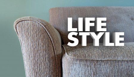 enjoying: Lifestyle Couch Home Leisure Fashion Word 3d Illustration