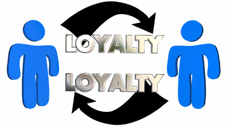 staunch: Loyalty Customer Employee Relationship People Arrows 3d Illustration
