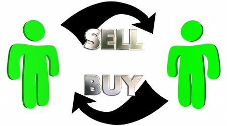 Sell Buy Sales Process Customer Close Deal 3d Illustration