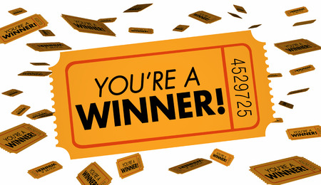 Youre a Winner Raffle Lottery Tickets Luck 3d Illustration
