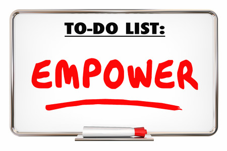 granting: Empower Allow Permit Entrust Writing Word 3d Illustration
