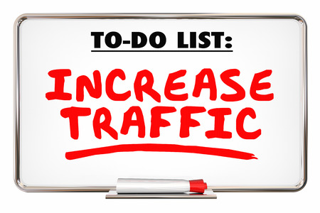 pen and marker: Increase Traffic More Visits Web Internet Store 3d Illustration