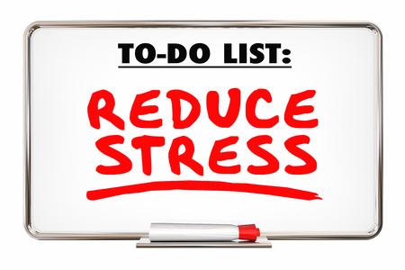 ストレスを減らす 3 d イラストレーションをリラックス単語マーカーの書き込み